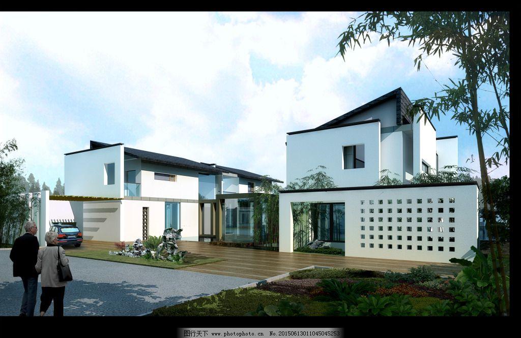 徽式民宿 徽式民宿免费下载 房子 建筑 装饰素材图片