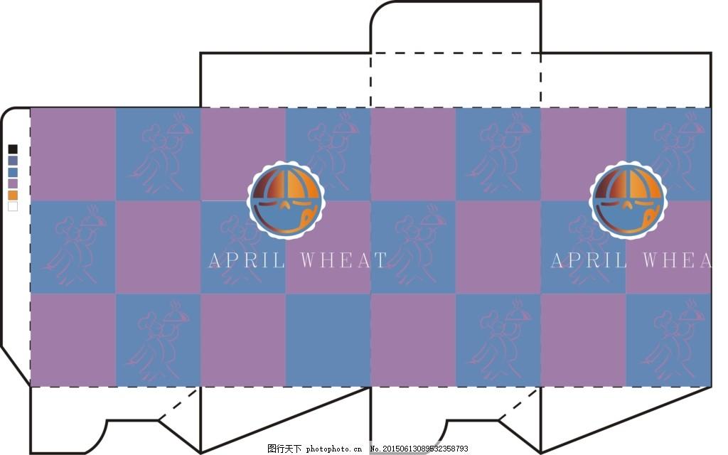 长方形包装盒展开图 礼品盒 长方形包装盒展开图包装设计 cdr 白色