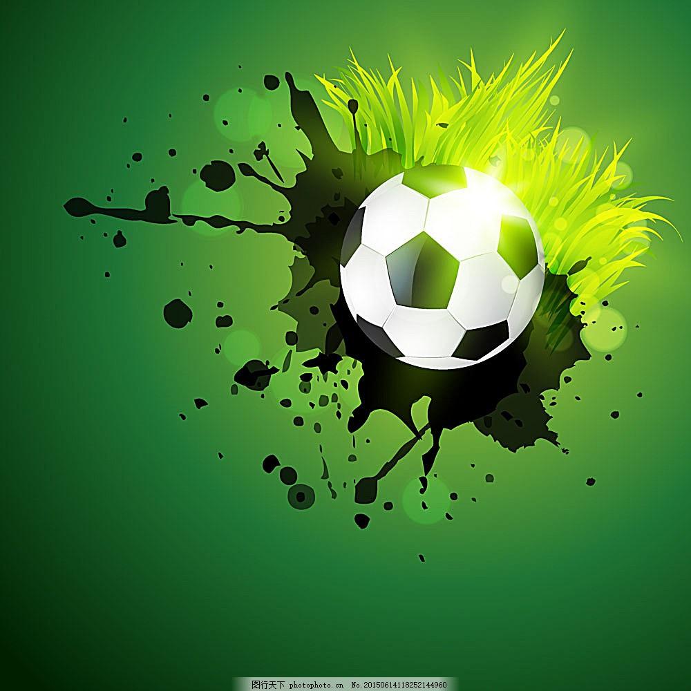 绿色涂鸦足球背景