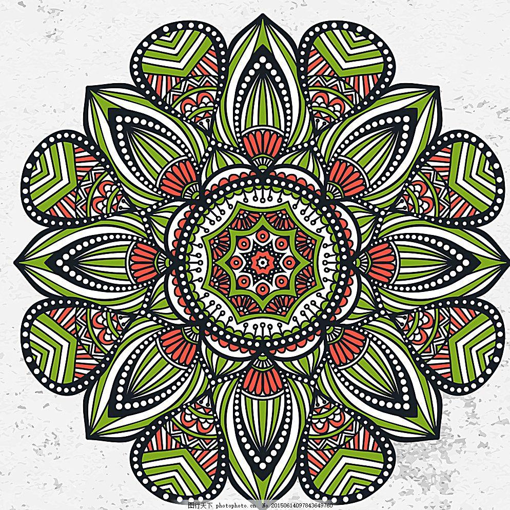 欧式花纹 花边 边框 花纹分割线 对称花纹 圆形花纹 装饰花纹