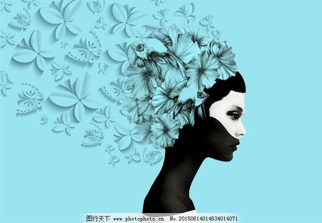 美丽女人 美丽女人免费下载 侧脸 唯美 原创设计 其他原创设计