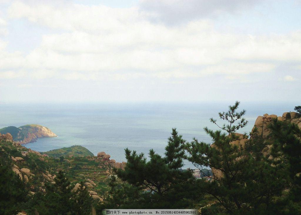青岛海上名山崂山风景图片