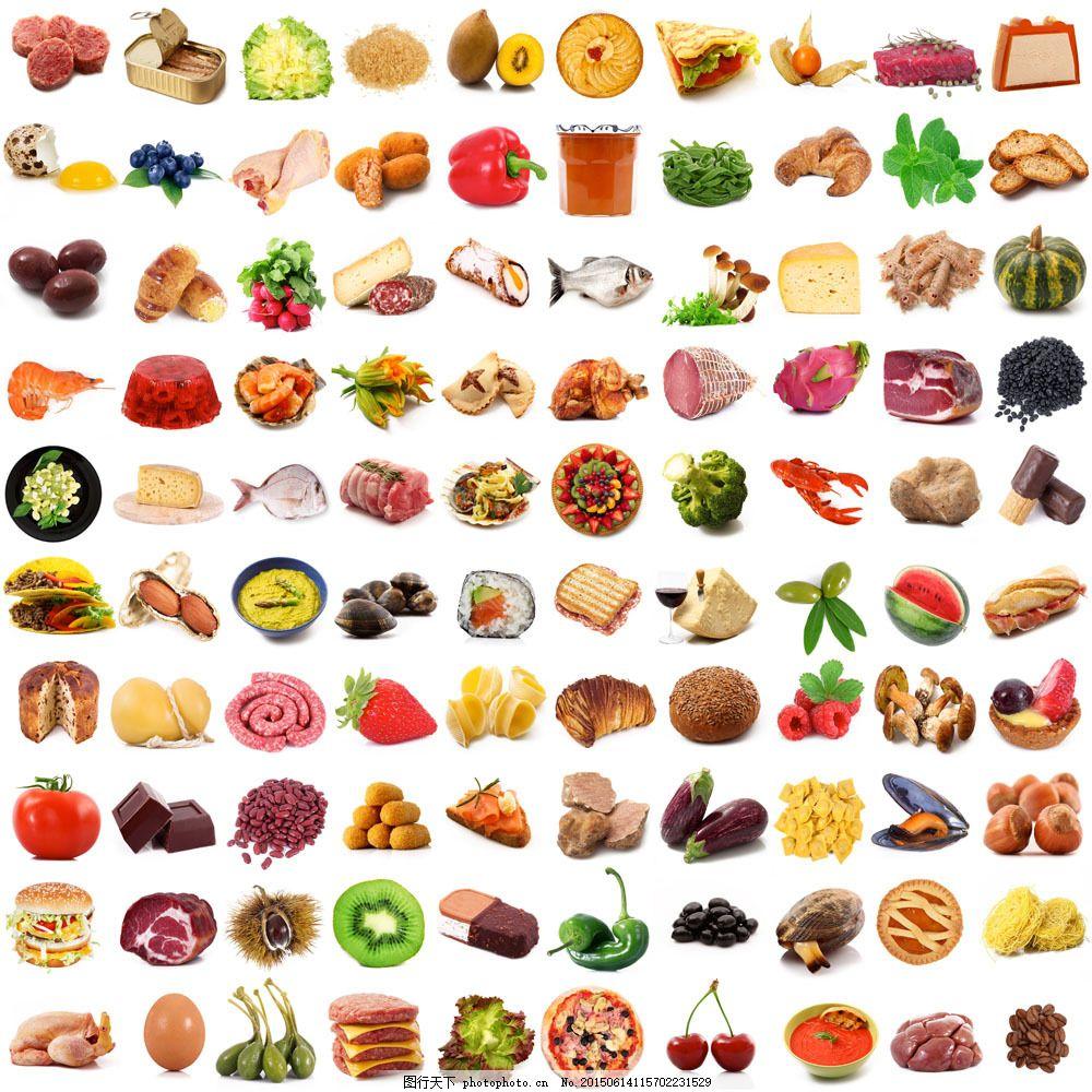 蔬菜食物素材 水果 面食 拼图 其他类别 生活百科 图片素材 白色图片