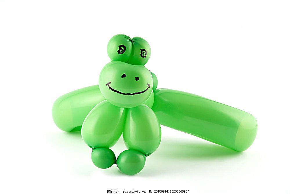 绿色气球青蛙 绿色气球青蛙图片素材 绿色气球青蛙图片下载 气球动物