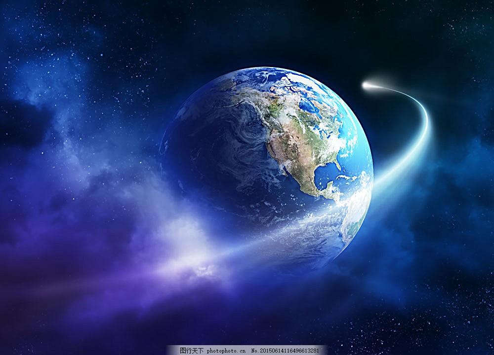 宇宙中的地球 星球 蓝色地球 阳光 其他类别 现代科技 图片素材