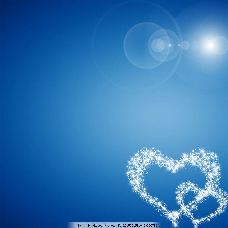 蓝色爱心背景