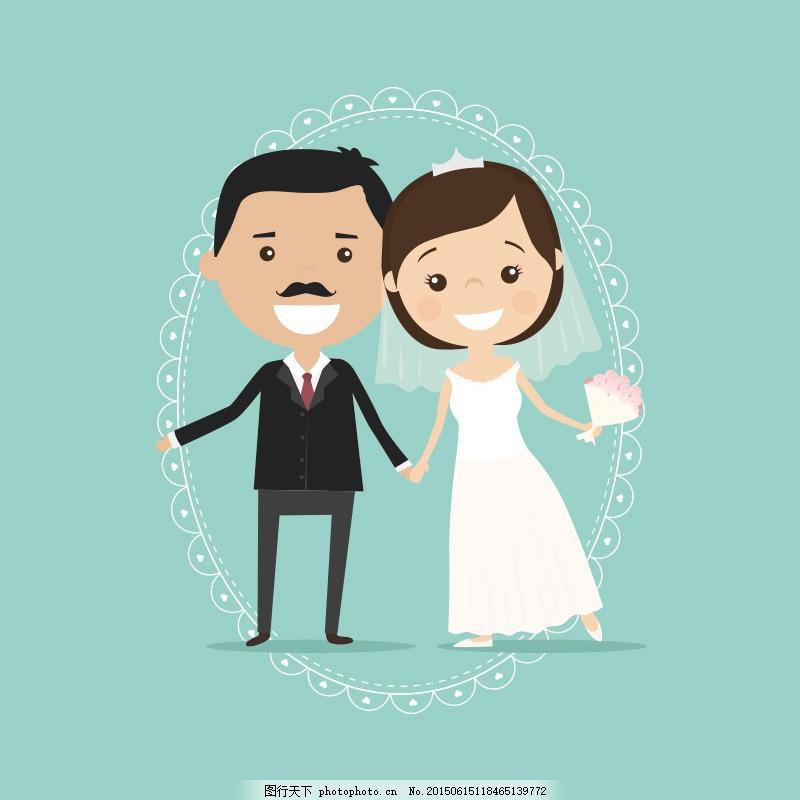 婚礼卡通人物主图