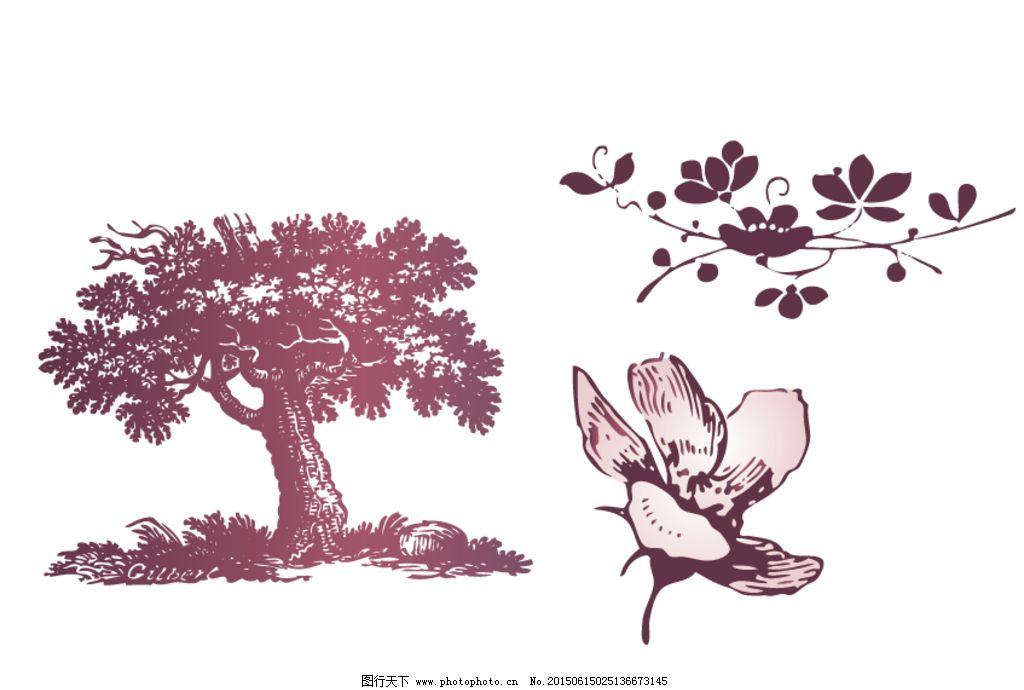 欧式树木 花朵图片