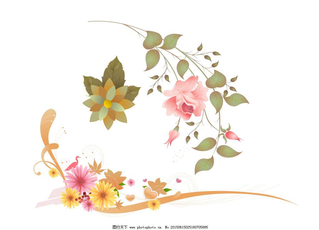 绿叶 手绘花卉