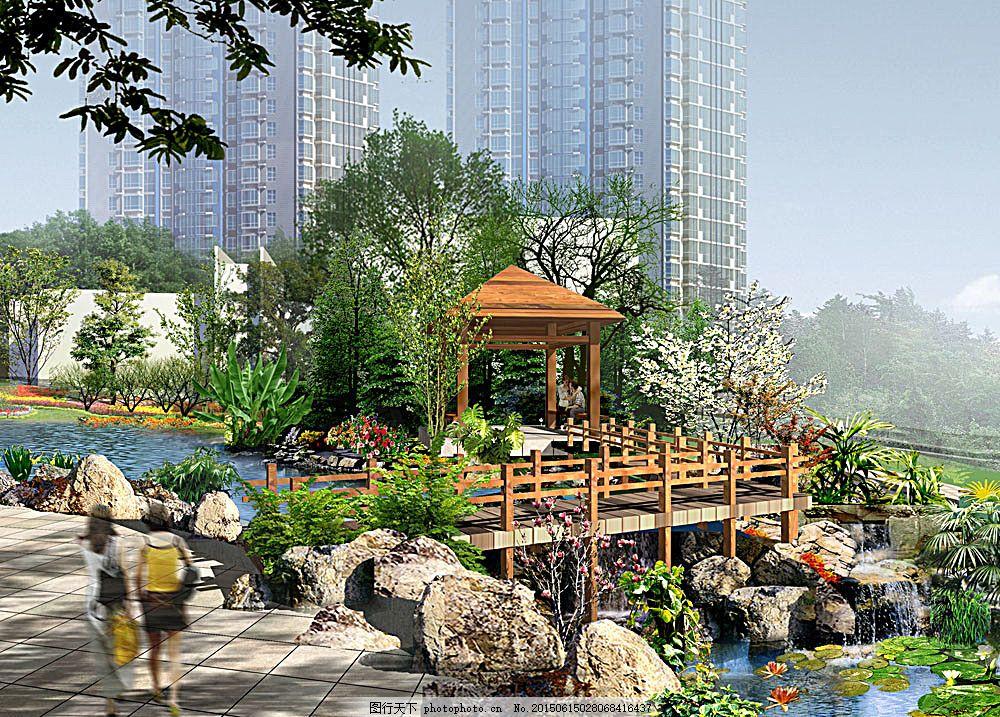 公共建筑 建筑外观 建筑设计 景观设计 3d效果图 小区建筑 凉亭 透视