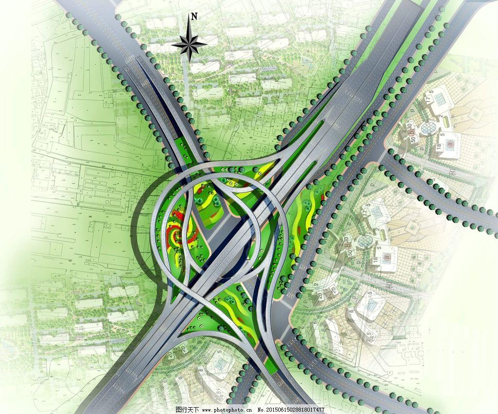 互通 平面 立交        公路 市政 设计 环境设计 施工图纸 72dpi jpg