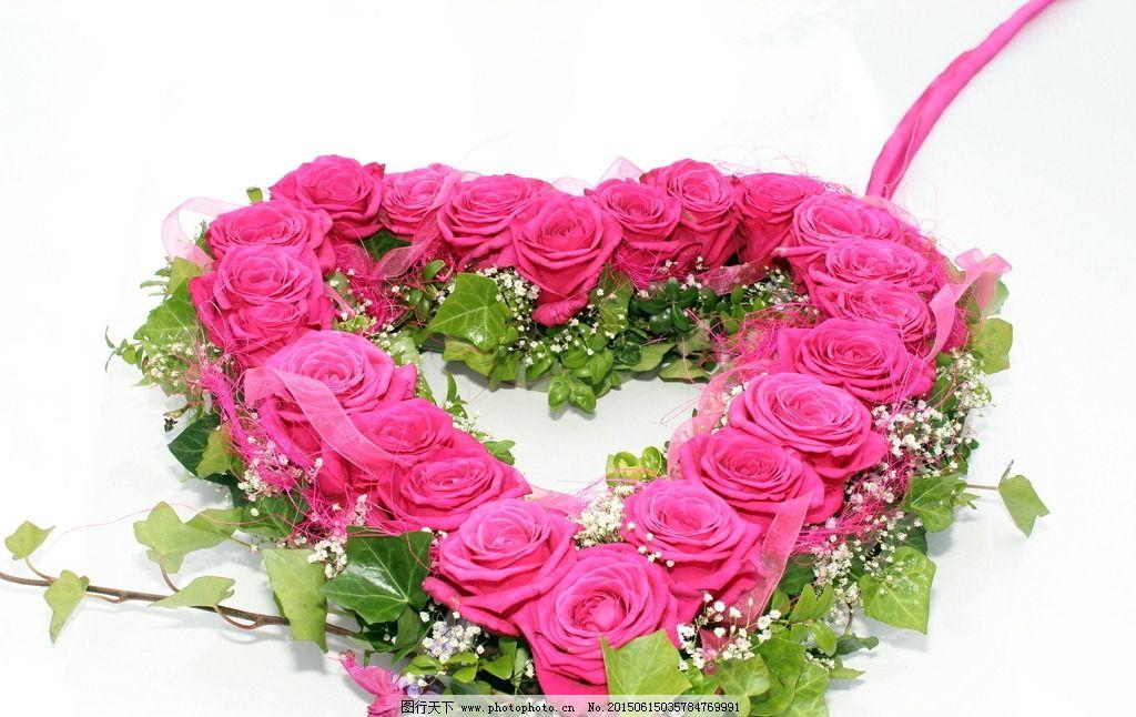 心形玫瑰花图片