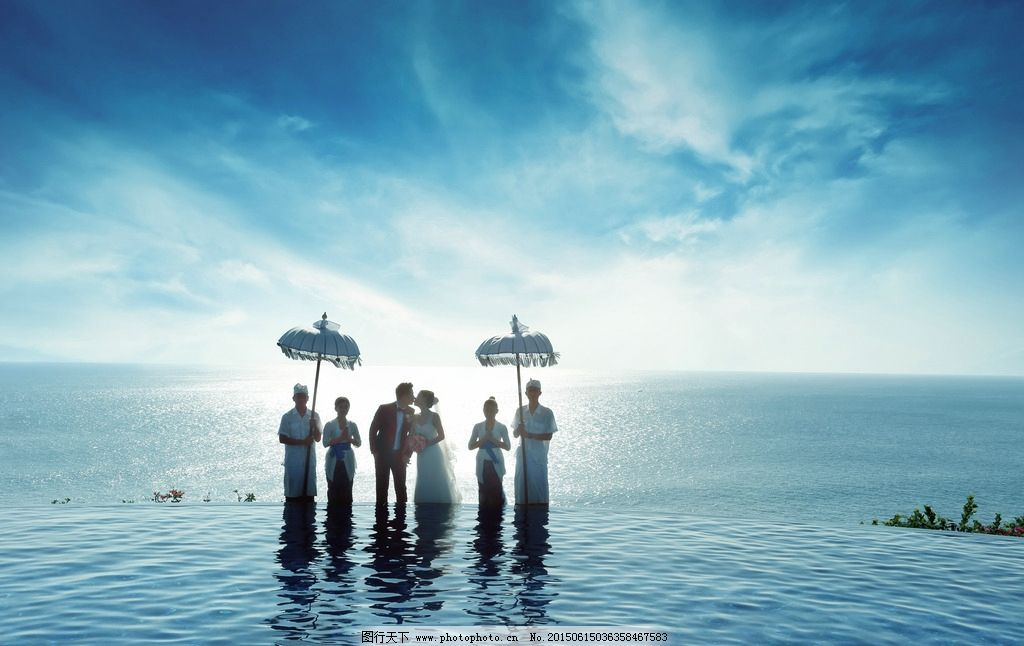 蓝点 湖边泳池 海外婚礼 婚纱摄影 巴厘岛 摄影 人物图库 人物摄影