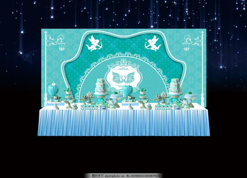 婚礼签到效果图免费下载 高贵 婚礼签到区 欧式婚礼签到区 宫廷婚礼