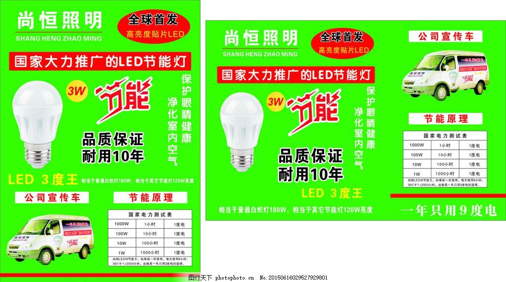 LED照明 灯泡 海报 节能