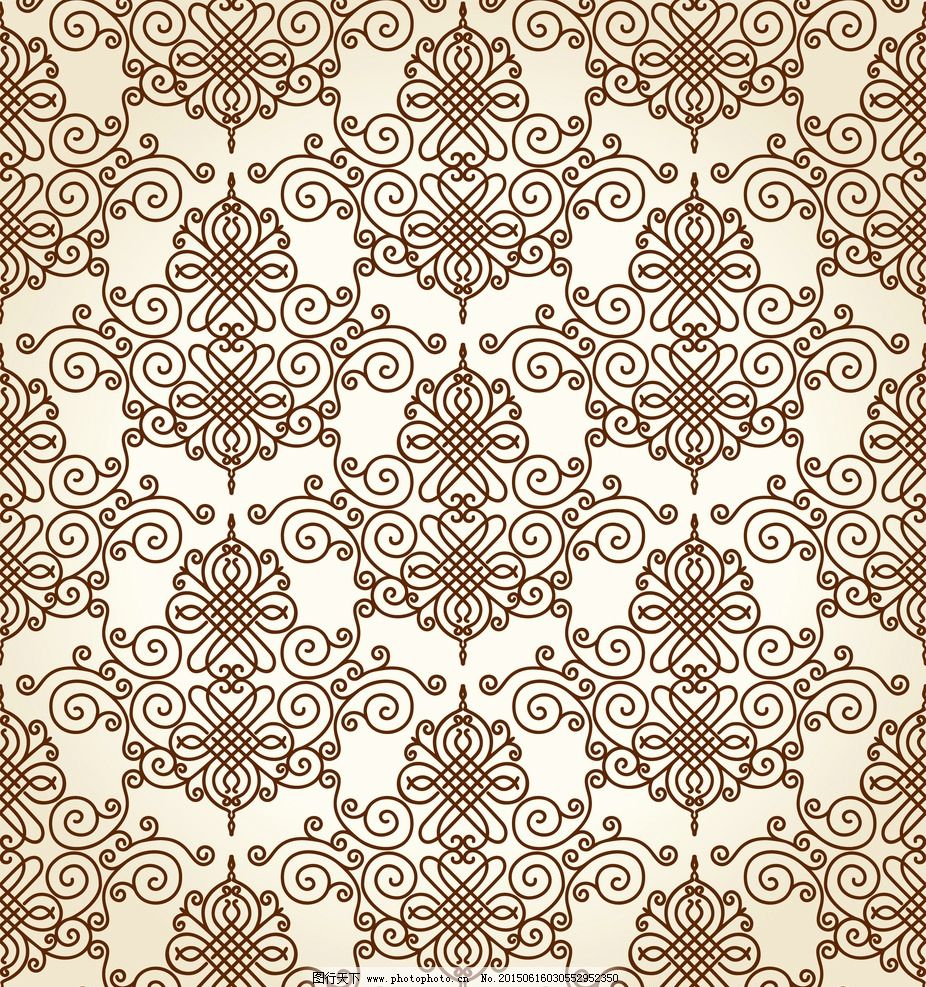 二方连续花纹矢量图图片,纹样 样式 欧式手绘花纹 -图
