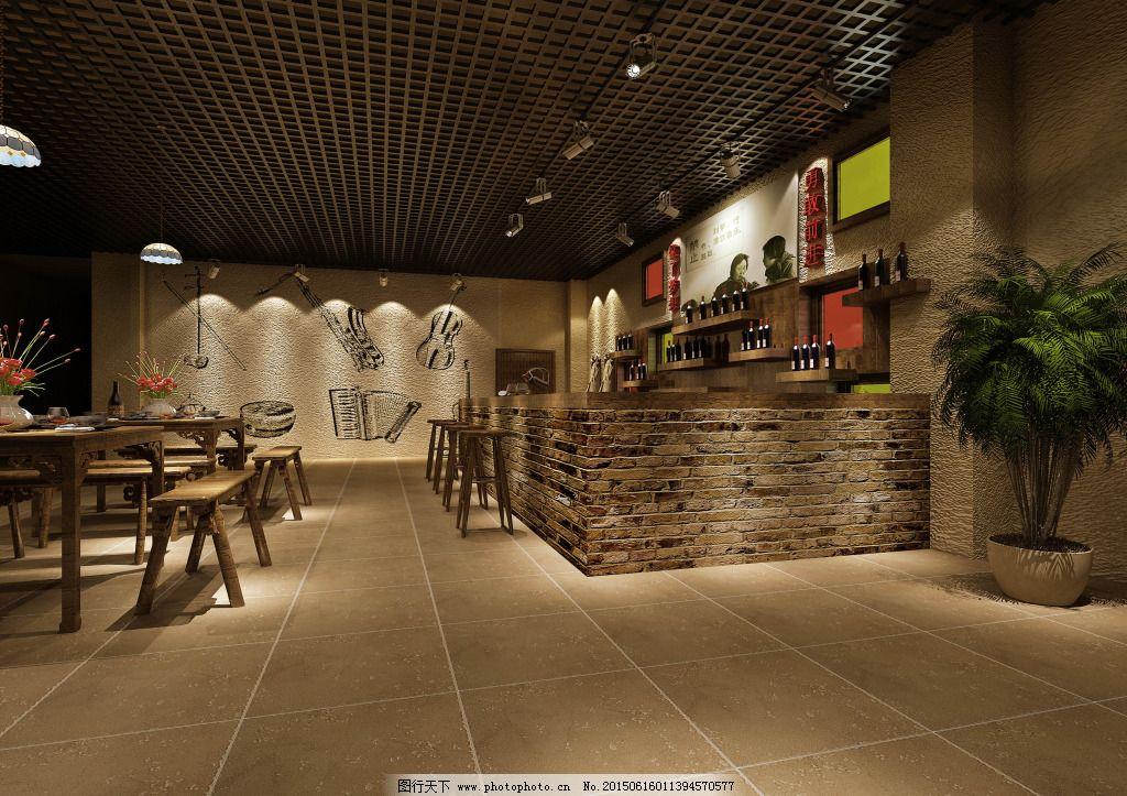 馆 餐厅 餐厅效果图 咖啡厅效果图 复古酒吧 复古 复古家装 酒吧室内