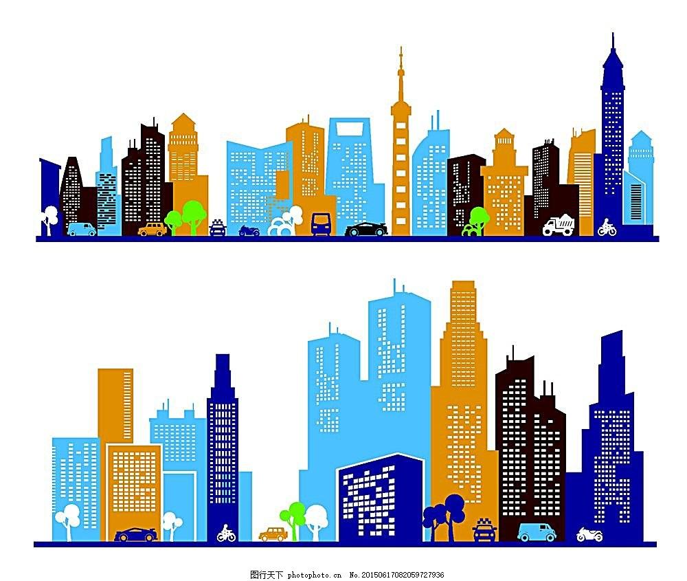 矢量图库 矢量房子 矢量边框 房子 建筑图片 条纹底框 高楼大厦 城市