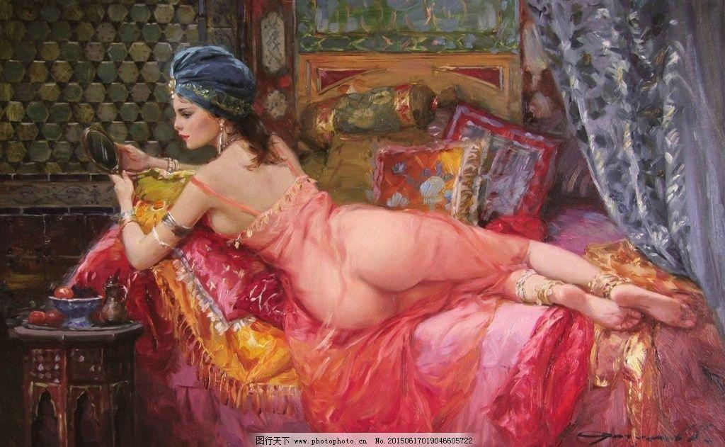 装饰画 无框画 欧式油画 美女 油画美女 唯美 油画艺术 古典油画 写实