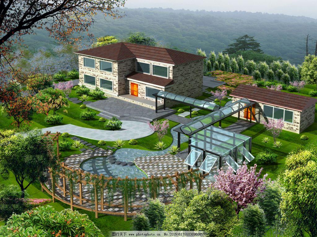农家乐 生态 园林 景观 园林 生态 农家乐 装饰素材 园林景观设计