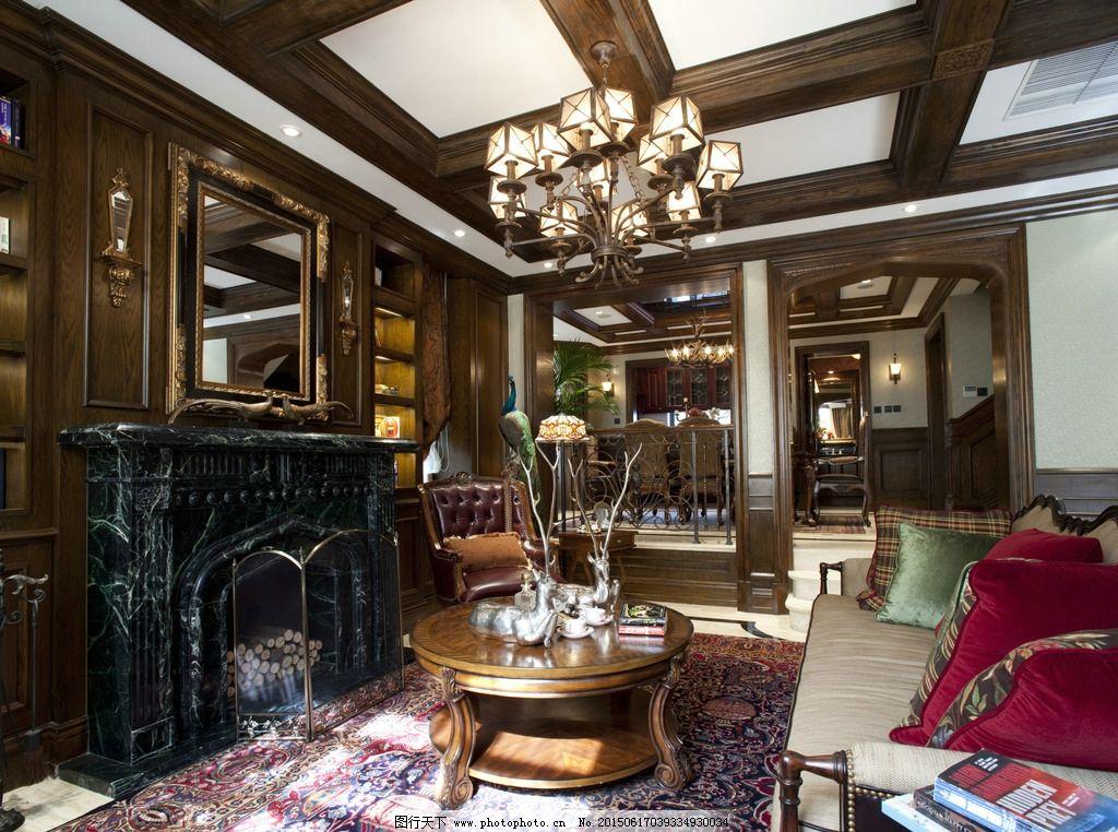 别墅样板房客厅图片_室内摄影