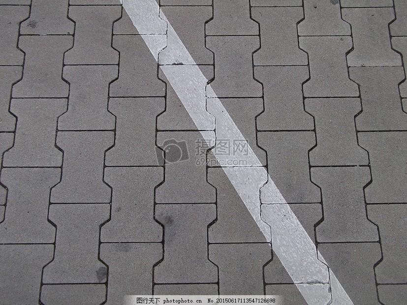 路面上的图案 地面 停车场 线路 鹅卵石 对角线 斜图形 花纹 斑马线