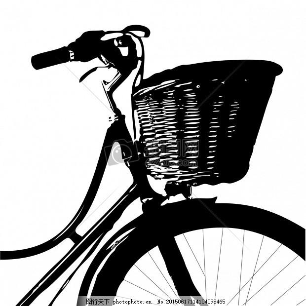 自行车 酿酒 老 老式 复古 黑 侧影 篮 柳条 柳条篮 白     红色 jpg
