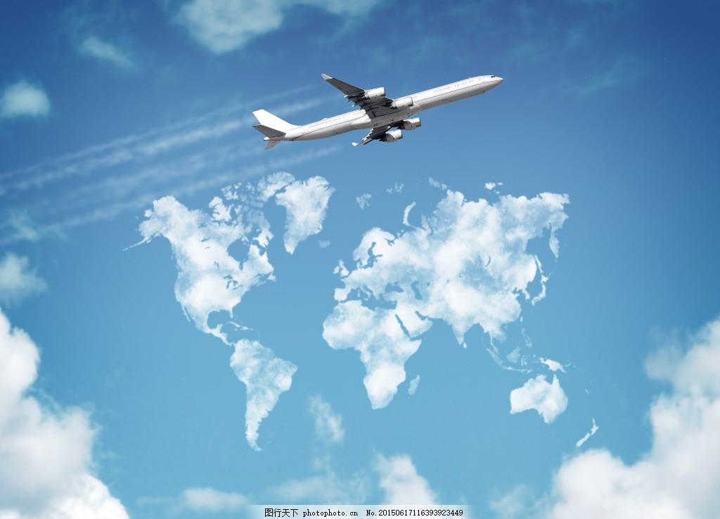 冲向蓝天的飞机 天空飞机 航空 蓝天白云 蓝色