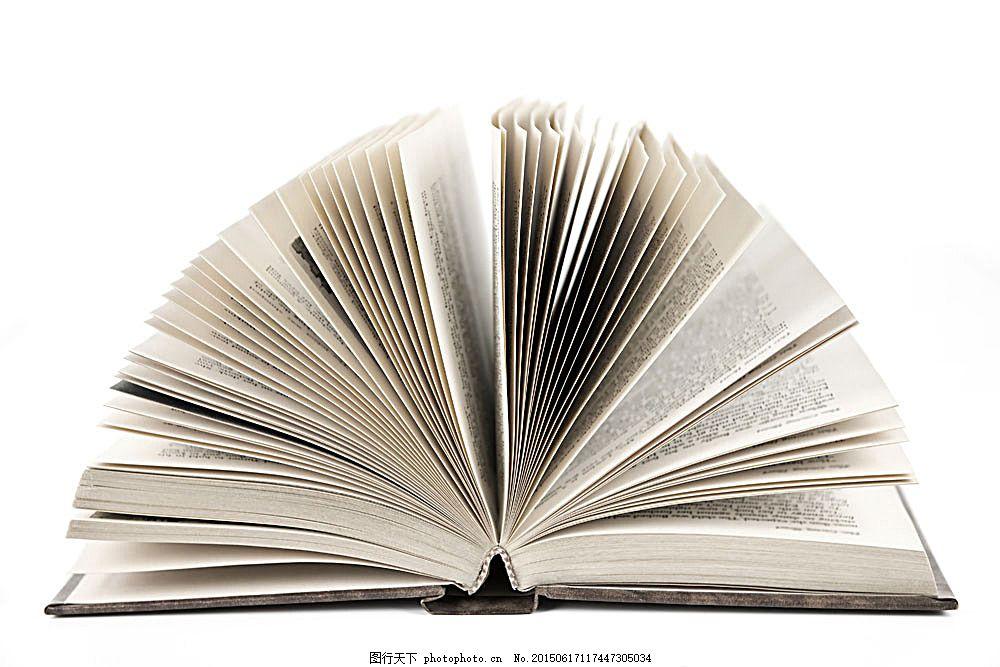 翻开的书 书本 书籍 印刷品 打开的书本 办公学习 生活百科 图片素材