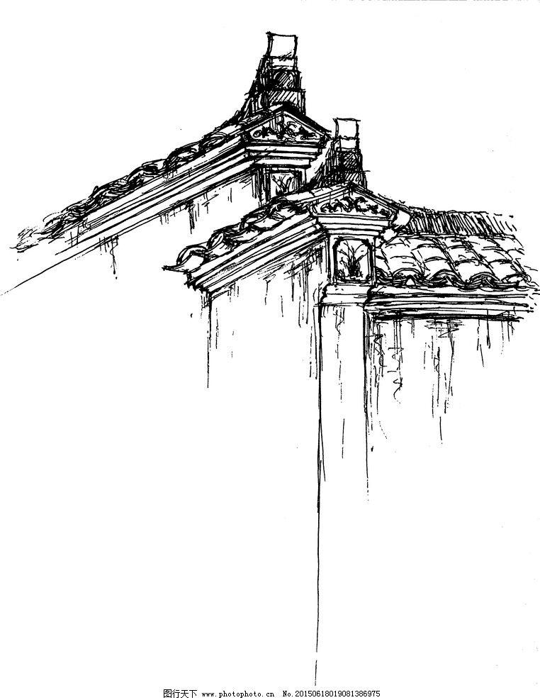 西递速写_安徽马头墙速写图片_绘画书法_文化艺术_图行天下图库