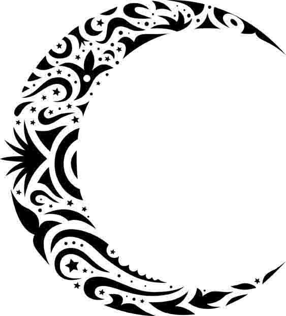 月亮免费下载 花纹花边 矢量月亮 月亮 矢量月亮 花纹花边 月亮 矢量图片