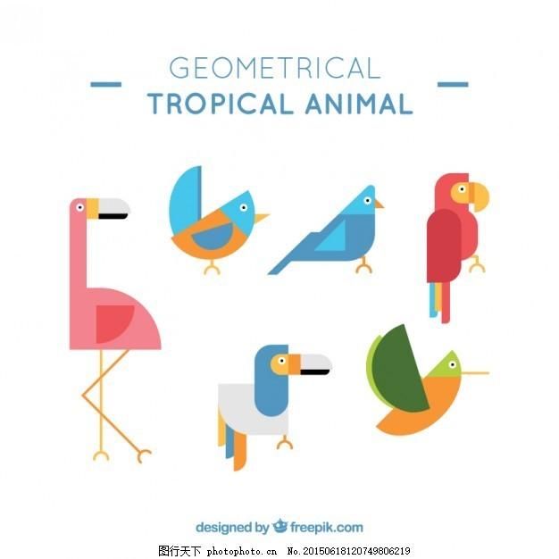 几何热带动物收藏