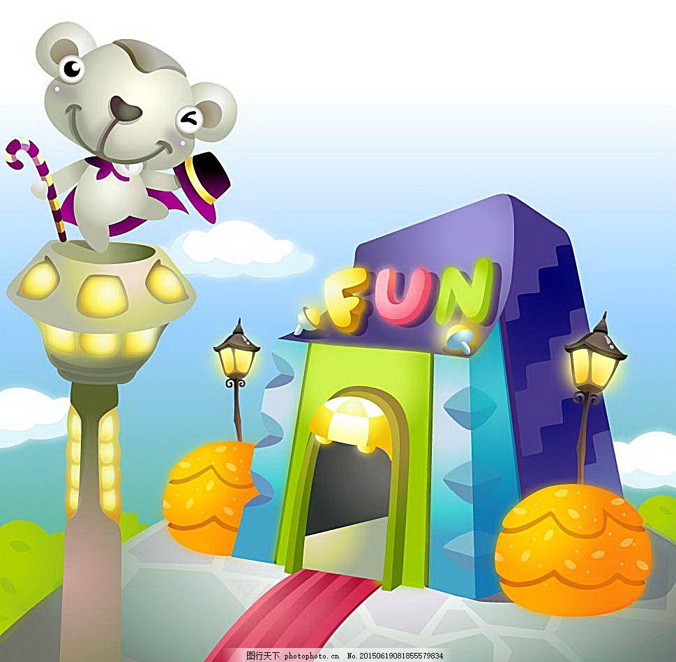 可爱鼹鼠 卡通 卡通插画 儿童 儿童乐园 可爱 游乐场 动物 鼹鼠 其他
