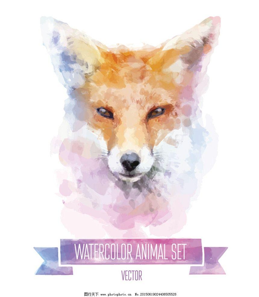 动物水彩画图片_野生动物