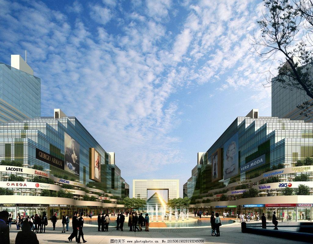 商业街 建筑设计 景观设计        入口 设计 环境设计 景观设计 72