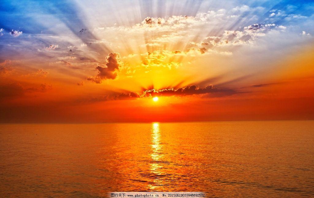 唯美 风景 风光 旅行 自然 秦皇岛 大海 海 海边 蓝天 白云 夕阳 落日