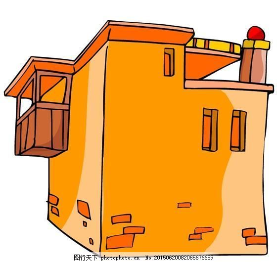 卡通古代建筑