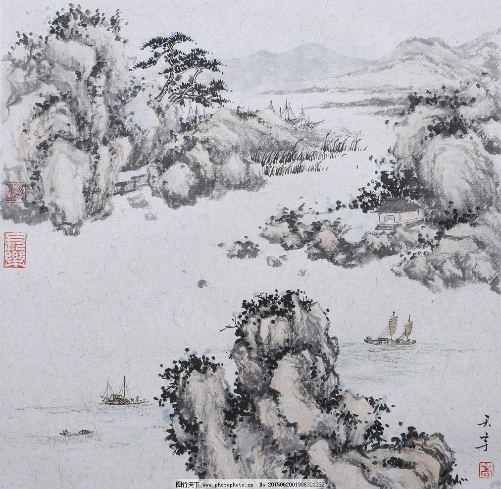 山水国画 风景画 工笔山水画 山水风景 古画 国画 设计 文化艺术 绘画