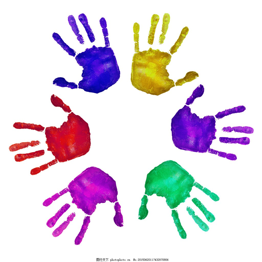 亲子手印 颜料 彩色手掌 手掌印 背景 儿童手掌 手印背景 水彩手印