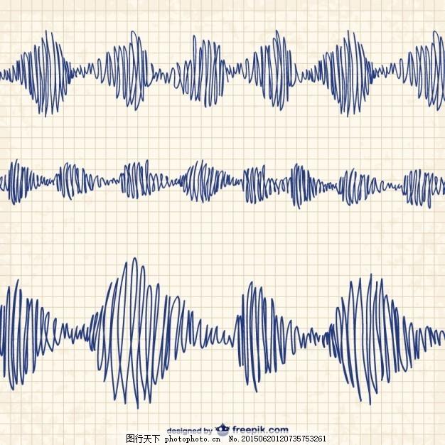 手绘波 摘要 纸 手 波 手画 艺术 波浪 笔 笔记本 绘画 抽象波 画