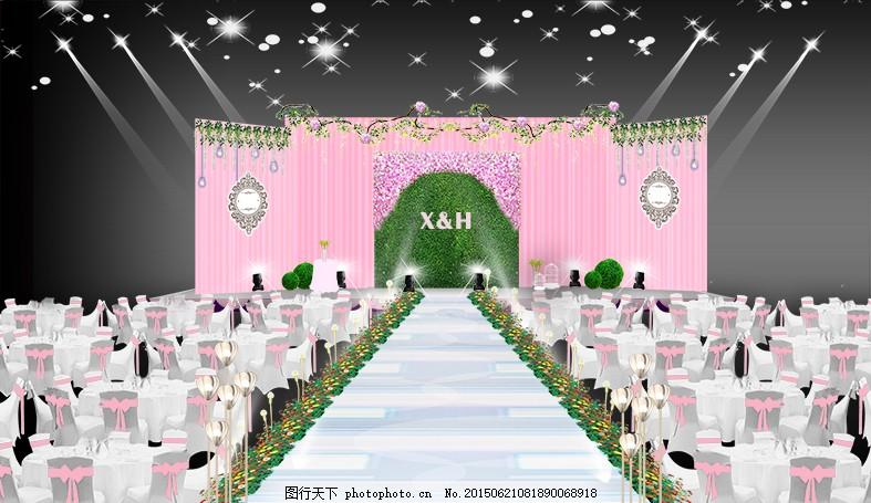 小害家婚礼效果展示 婚庆 森系 春天 粉色 花 树藤 欧式 框