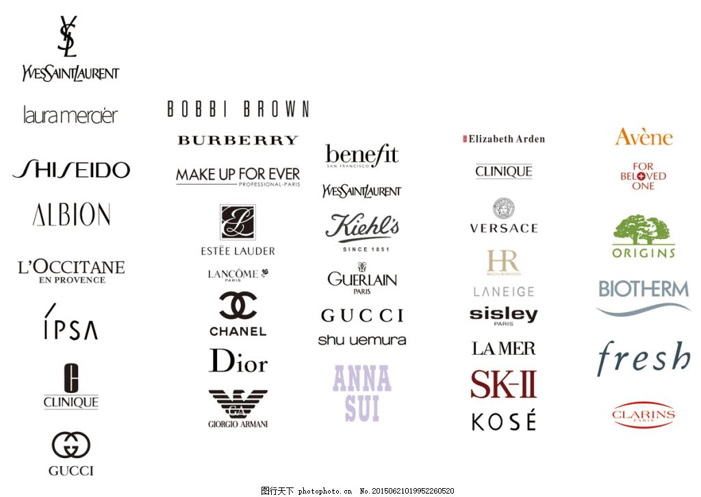 品牌化妆品_国际知名化妆品品牌LOGO图片_企业LOGO标志_标志图标_图行天下图库