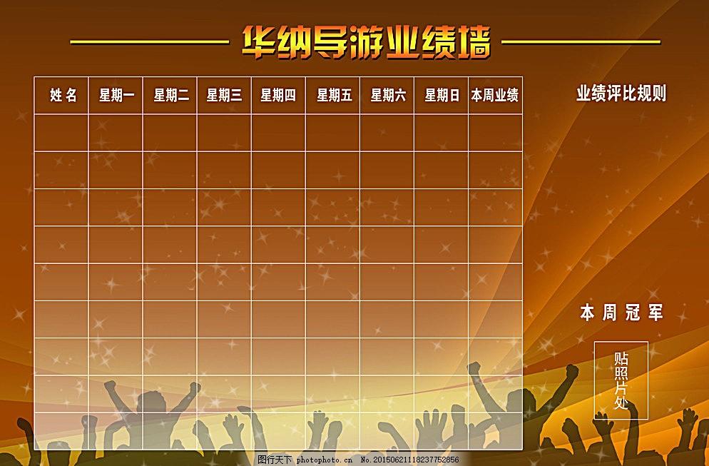 业绩墙 业绩表 导游业绩墙 背景墙 旅行社背景墙 设计 广告设计 150