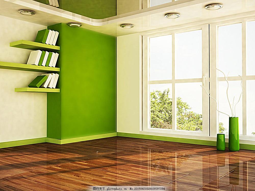 绿色环保室内设计 环保 窗户 地板 绿色 绿色墙壁 室内设计 装修 环境