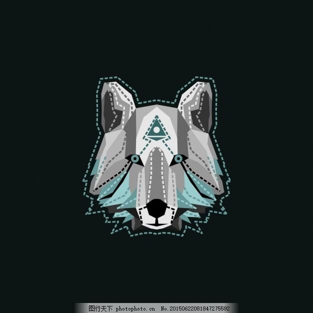 狼的设计 背景 动物 壁纸 创意 狂野 背景设计 创作背景 煤层