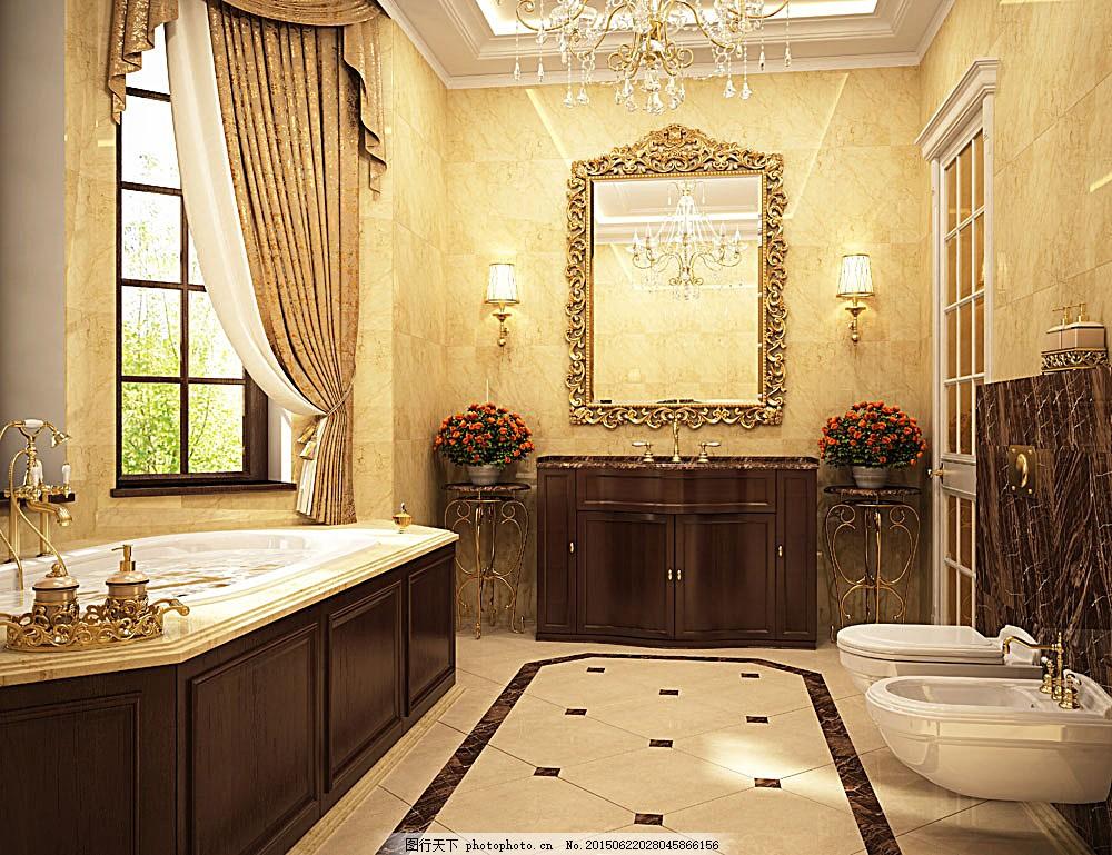 豪华卫生间设计 马桶 房屋设计 装修设计 装潢 室内设计 环境家居