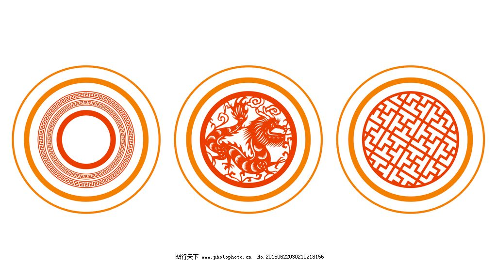 圆形欧式花纹图片_展板模板