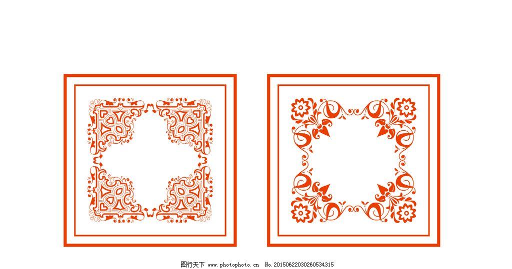 欧式花纹图片_展板模板