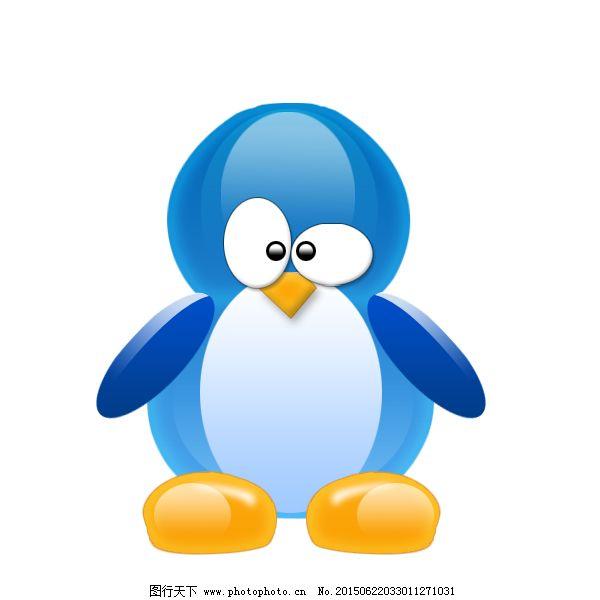 蓝色系统企鹅头像