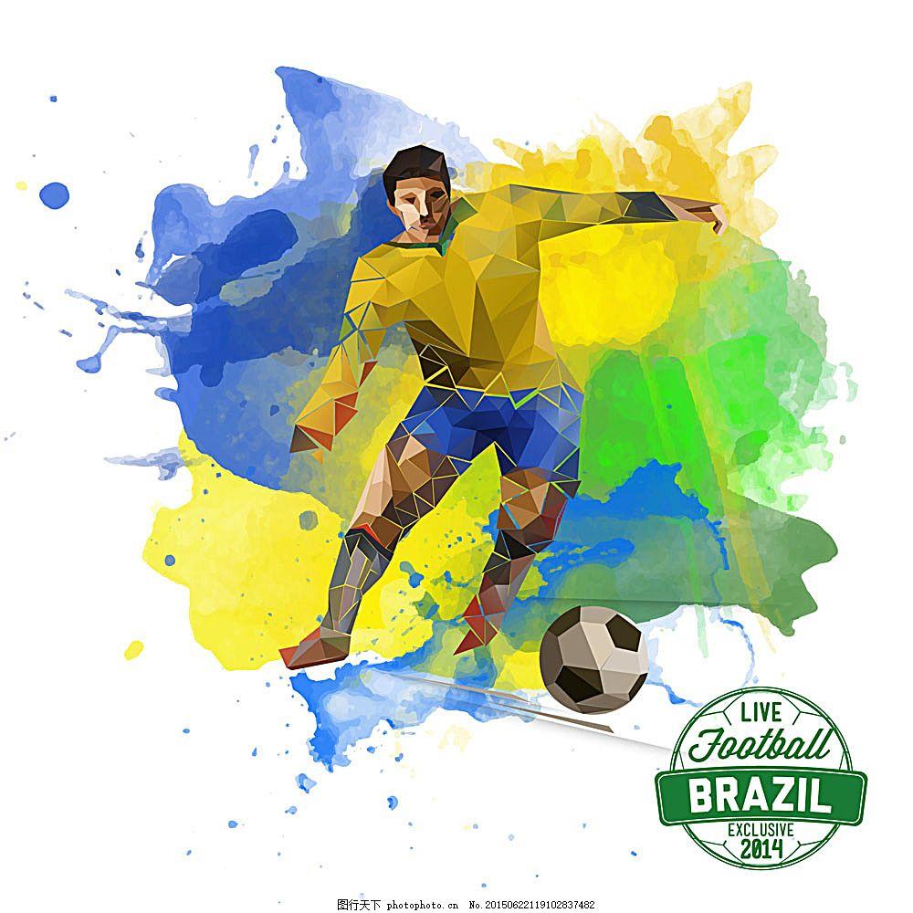 涂鸦球员与足球